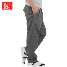 Mens Cargo Pants Fashion Straight Light Men Casual Pants Loose Wide Cotton Pants Boys Elastic Waist Trousers Plus Big Size M-6XL