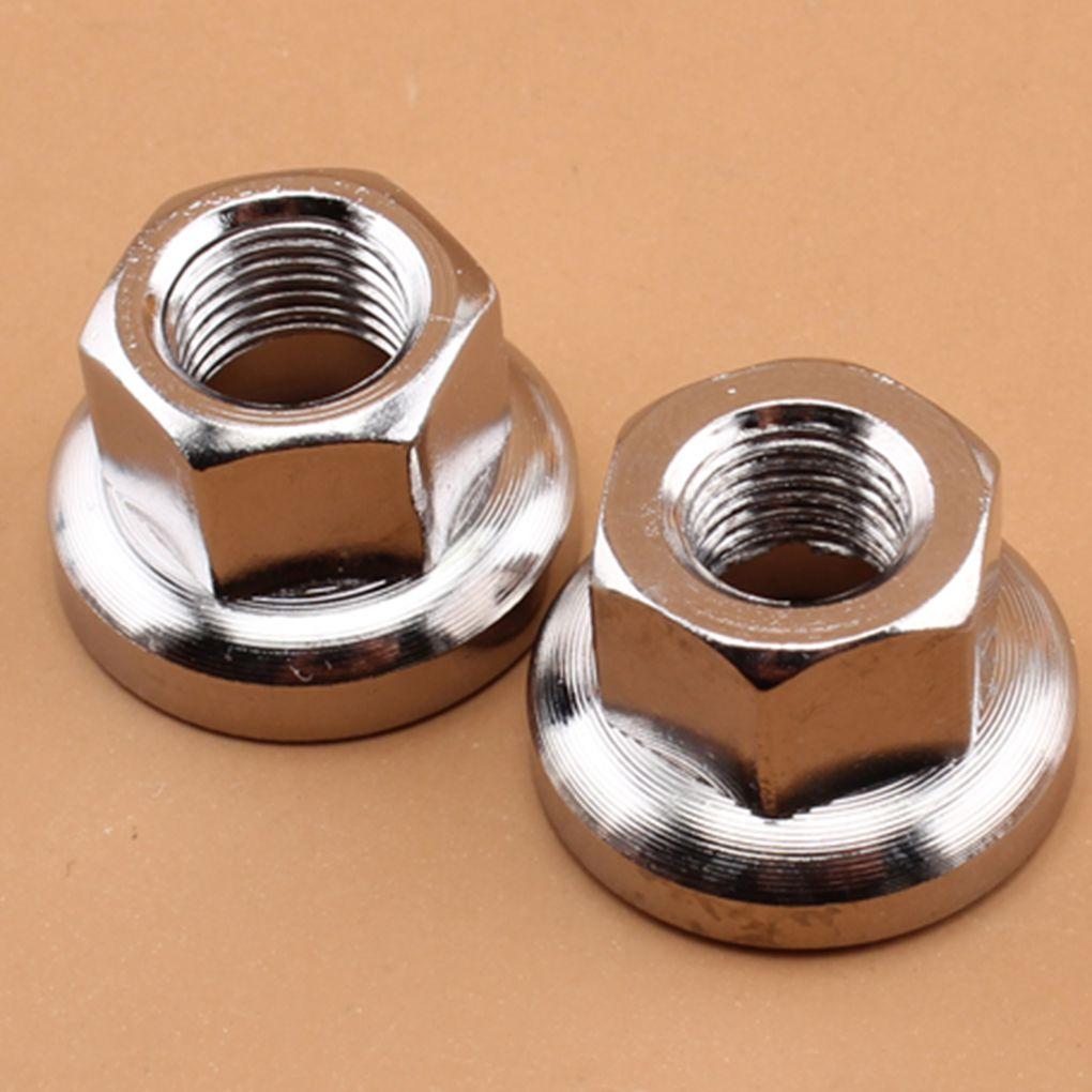 """3//8/"""" or M10 2pcs Original Shimano Chromes Hub Axle Nuts"""