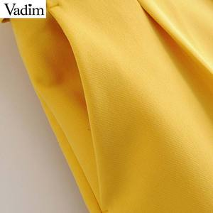 Image 5 - Vadim women elegant solid pants sashes pockets zipper fly design office wear trousers female casual long pantalones KA830