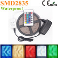 5M 60Pcs/M LED Strip light 2835 SMD / 2A Power Adapter 24key  Brighter 3528 2835 3014 5050 Ribbon String Decorative lamp Tape