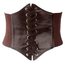 Fashion Cummerbunds Wind Rope Waist Leather Belt