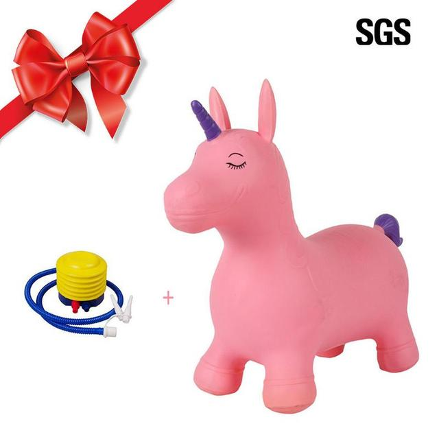 7dbd0a084 PVC Inflatable Bouncer Jumping Horse Toys Ride On Child Baby Play ...