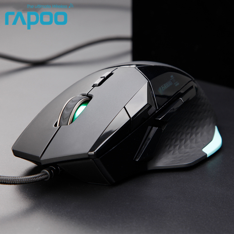 Original Rapoo VT900 Wired Gaming Mouse IR Optical with 16000 DPI Adjustable for Gamer PUBG Computer Without Retail Box image