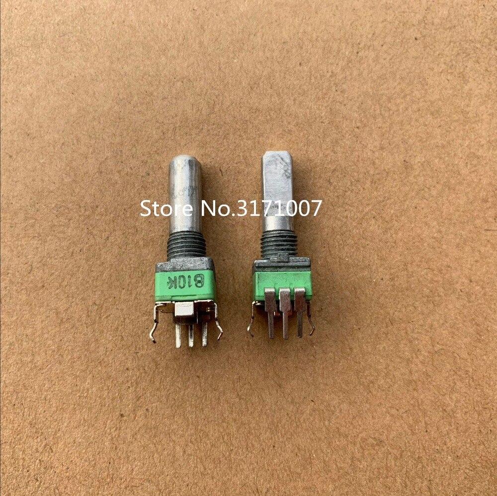 100 pcs/lot ALPHA Alfa type 09 potentiomètre de précision, simple B10K, demi-arbre, long axe 20 MM, pas de fonction de positionnement