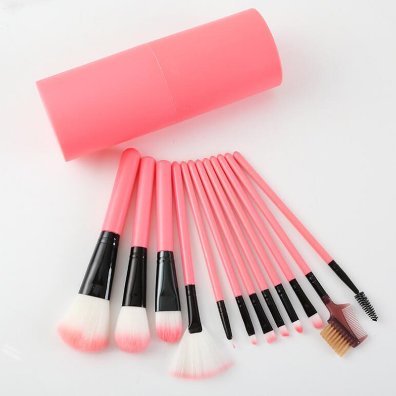 Makeup Brushes Set Kit 12pcs in 1 Pro Concealer Foundation Eyeshadow Eyebrow Kabuki Brush Black Free shipping петр великий арабика кофе в зернах 100 г
