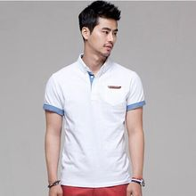 2015 New Arrival fashion Men & Women Loose Short Sleeve POLO Shirt Turn down Collar Casual POLO Shirt white Multi- Size M-XXXL