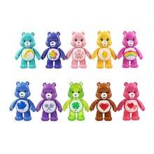 10pcs/set 7cm Cartoon Care Bear PVC Figure Toys Mini Action Model Dolls Collectible Kawaii Animal Bear Toys Best Kids Baby Gifts