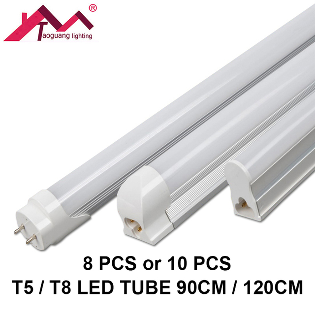 Admirable 8pcs or 10pcs LED Light Tube T5T8 90CM 120CM SMD2835 LED KB-18