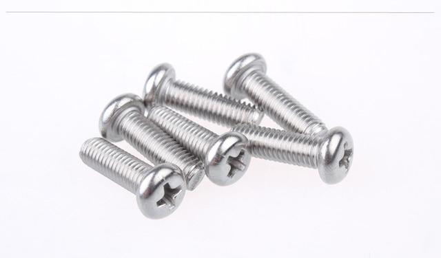 304 stainless steel screw ISO7045 M4x12 screw cross recessed pan head screw round head bolt 10pcs