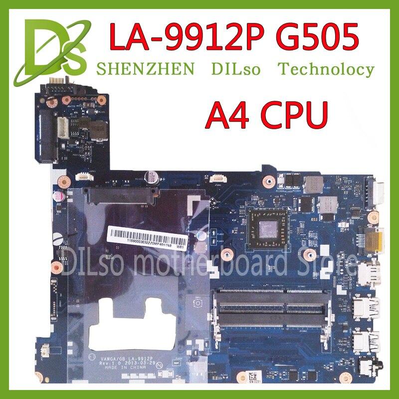 KEFU LA-9912P материнская плата для ноутбука для Lenovo IdeaPad g505 LA-9912P материнская плата для ноутбука A4 Процессор Тесты материнская плата
