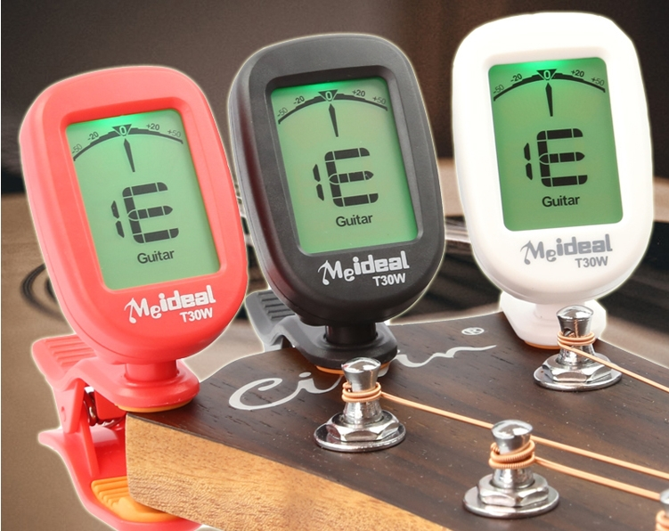 Hot Sell T30W Guitar Tuner LCD Clip-on Electronic Digital Guitar Chromatic Tuner Guitar parts Top Quality