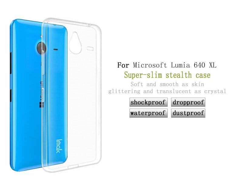 Dla microsoft lumia 535 532 435 640 640xl case cover, 0.6mm tpu case super slim miękkie back case etui na telefony 15