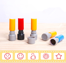 Auto Ink School Teacher Schoolhouse Kids Gift Stamp Cartoon Children Plastic photosensitive seal custom ly p20 digital photosensitive seal machine psm stamp maker free tax to ru