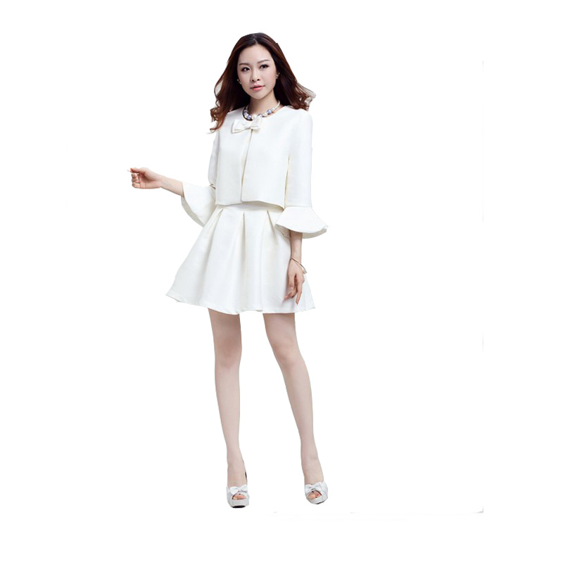 Aliexpress.com : Buy 2 Piece Set Elegant Women White Dress Suits ...