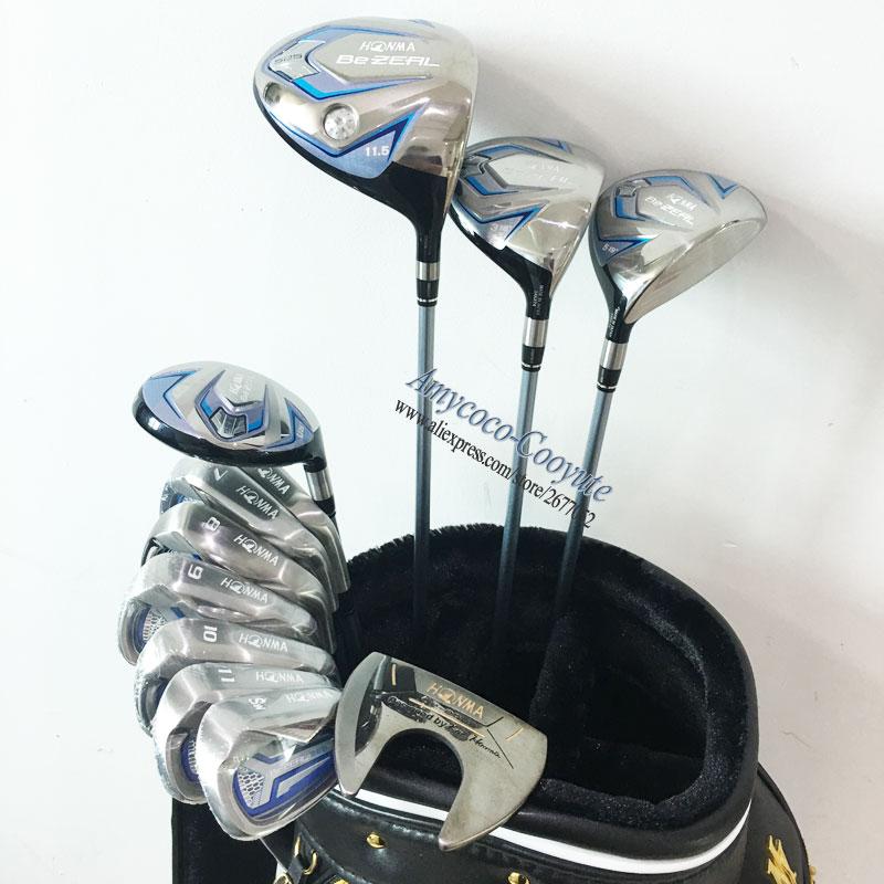 New Women Golf Clubs HONMA 525 Complete Set HONMA Golf driver.wood.irons.putter Graphite Golf shaft No bag Free shipping|Golf Clubs| |  -