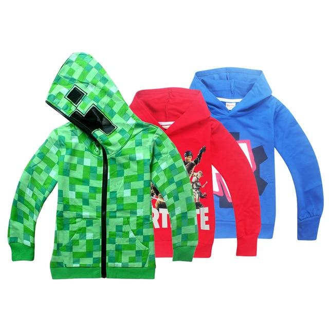roblox fortn Minecraft Autumn My World Cartoon Long Sleeve T-shirt Boys Girls gta 5 coat gta 5 Tops Sweatshirts coat hoodies