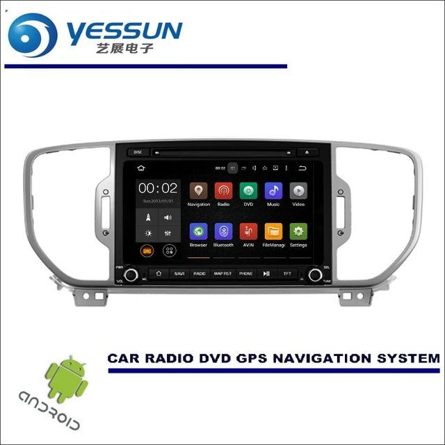 US $280 0 20% OFF|YESSUN Wince / Android Car Multimedia Navigation System  For KIA KX5 / Sportage QL 2015~2017 CD DVD GPS Player Navi Radio Screen-in