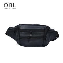 ФОТО casual business fashion genuine leather men crossbody bag waist pack travel pochete bolso cintura homme borsa mba22