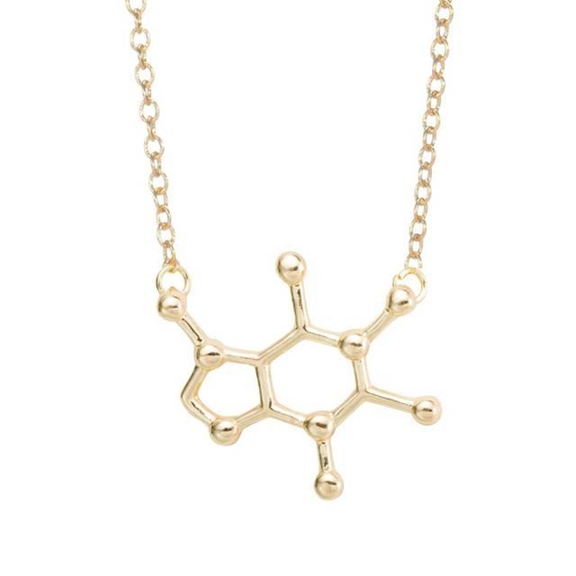 Us 084 35 Offsmjel 2018 Mode Serotonin Molekül Ohr Kletterer Für Frauen Chemie Struktur Wissenschaft Stud Ohrringe Crawler Geschenk Brincos
