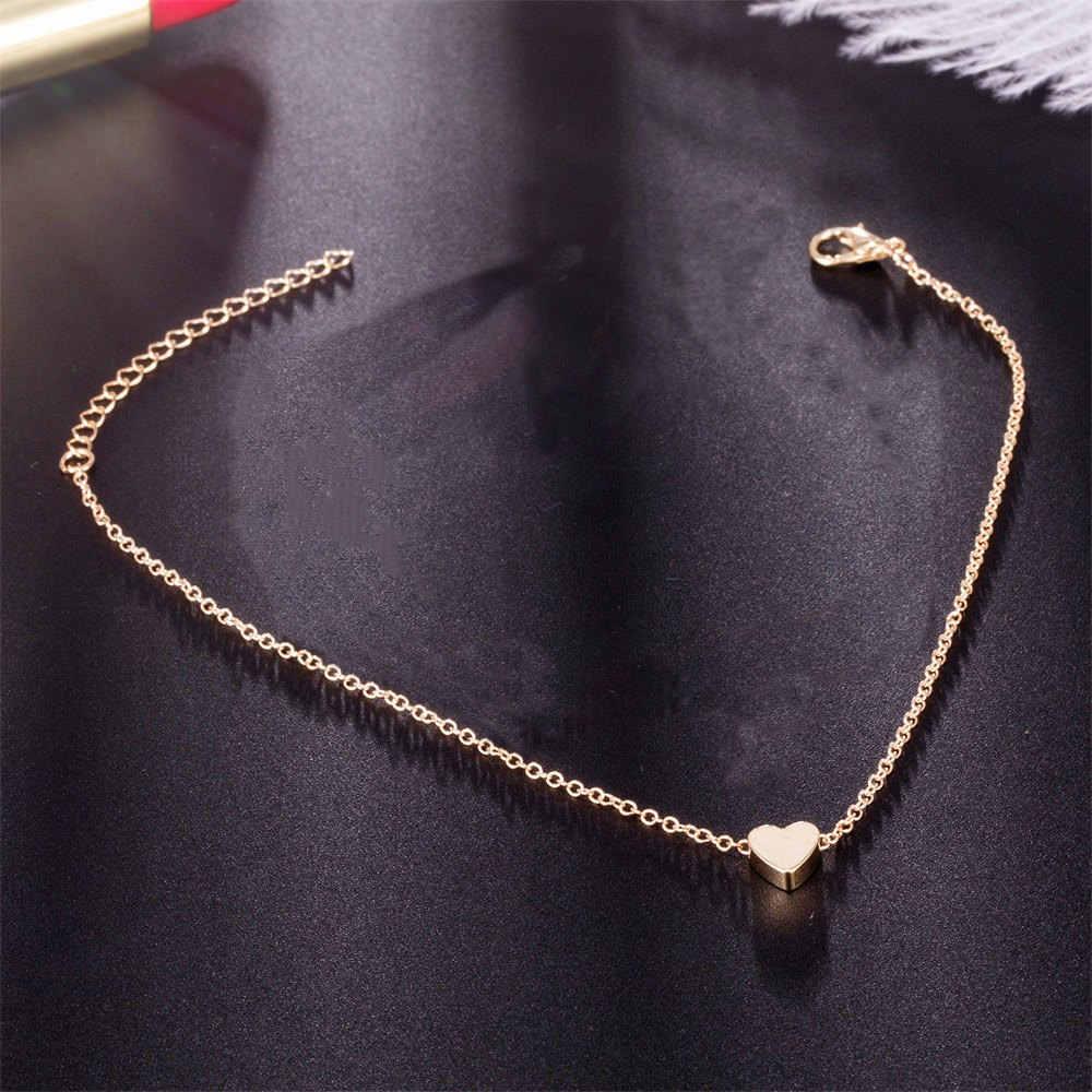 Gorąca sprzedaż moda złoto srebro serce bransoletki bransoletki dla kobiet minimalistyczny miłość urok metalowa bransoletka komunikat biżuteria hurtowych