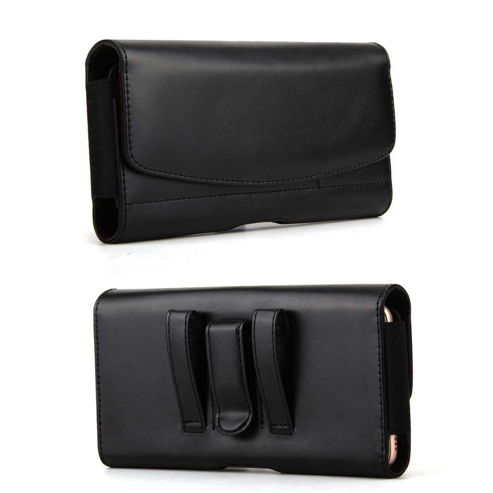 Universal phone pouch Cover Belt Clip Holster luxury Leather phone waist bag For iphone <font><b>samsung</b></font> xiaomi huawei mobile Phone <font><b>Case</b></font> image