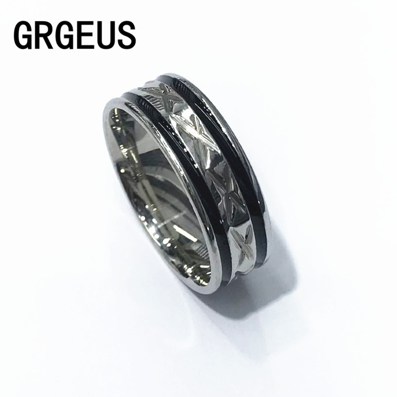 Black Men Ring 100% Titanium Carbide Men's Jewelry Wedding Bands Classic Boyfriend Gift