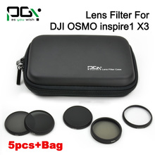 PGY DJI Inspire 1 /DJI OSMO Camera filter MCUV filter ND4 ND8 ND16 CPL with bag case FPV Camera accessories