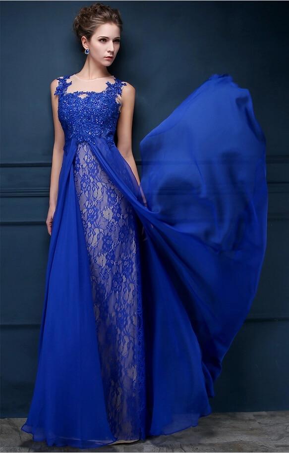 Женские вечерние платья королевский синий цвет