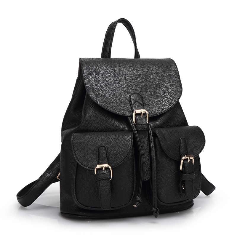 2018 модный рюкзак из искусственной кожи личи женская школьная сумка для девочек-подростков женский рюкзак Лидер продаж повседневные розовые черные сумки WUJ0399