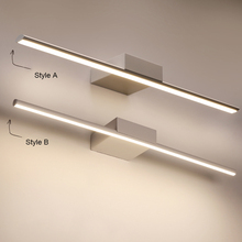 Светодиодные светильники для зеркал, черные/белые, 400/600/800/1000/1200 мм
