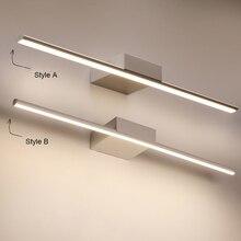 Luzes led de espelho para banheiro, nova chegada preta/branca 400/600/800/1000/1200mm lâmpada led de espelho para banheiro, maquiagem moderna