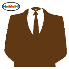HotMeiNi Anonymous Suit Elegant High Society Handsome Gentleman Car Sticker smooth surface Family Car Decor Vinyl Decal 9 Colors(China)