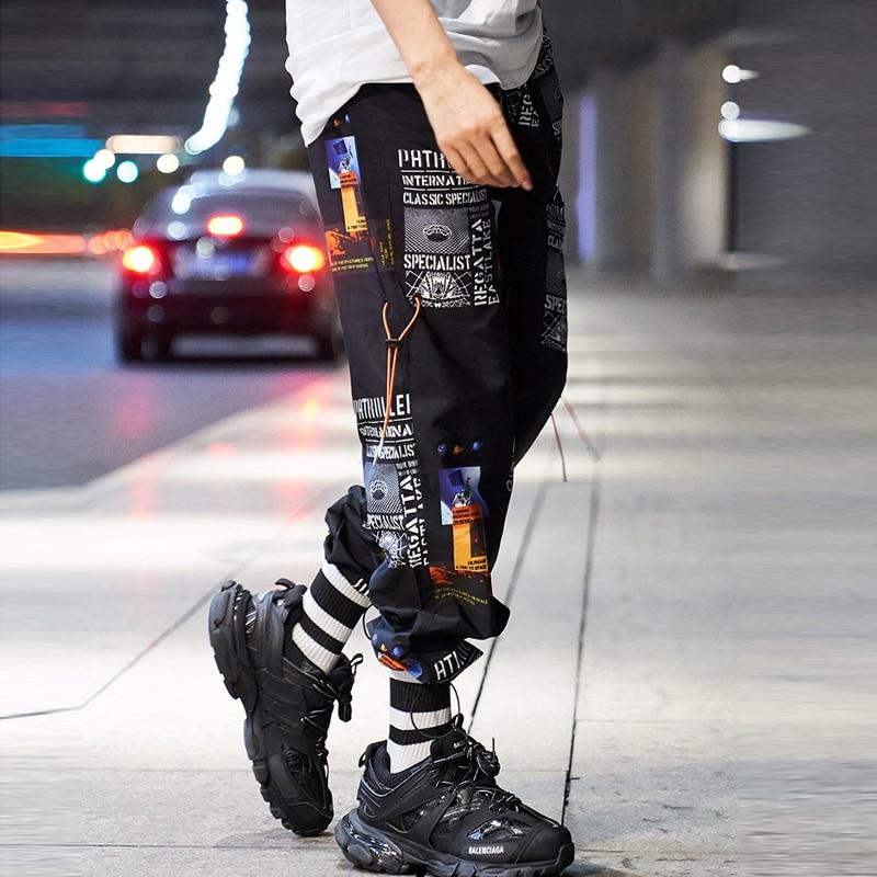 2020 Summer Style Hip Hop High Street Men Pants Printed Men's Jogger Trouser Casual Harem Pants Sweatpants Streetwear LBZ97