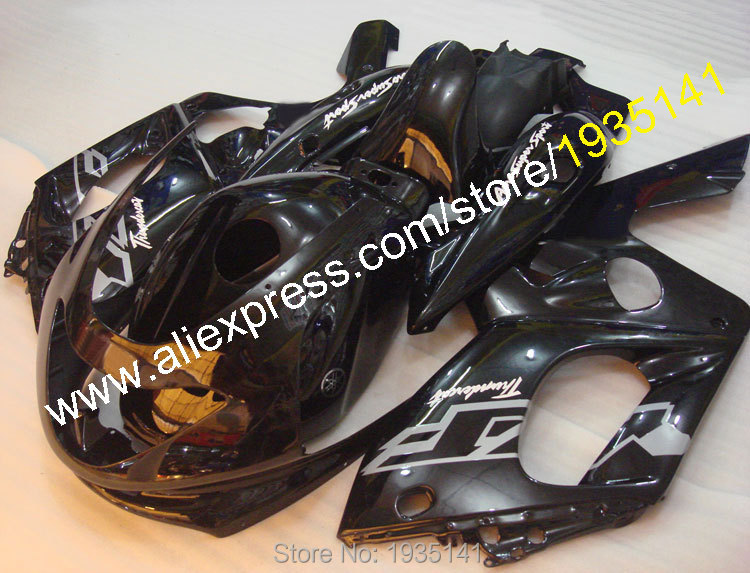 Hot Sales,For Yamaha YZF600R Thundercat 1997-2007 YZF 600R 97~ 07 Gloss black Motorbike aftermarket body fairing Accessories hot sales for yamaha yzf r1 2007 2008 accessories yzf r1 07 08 yzf1000 black aftermarket sportbike fairing injection molding
