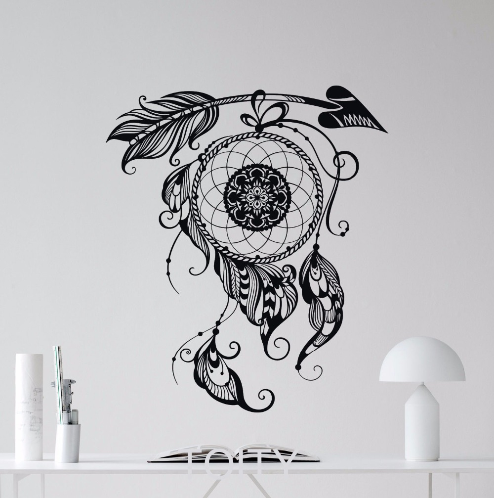 Dream Catcher Wall Sticker Feathers Art Native Indian