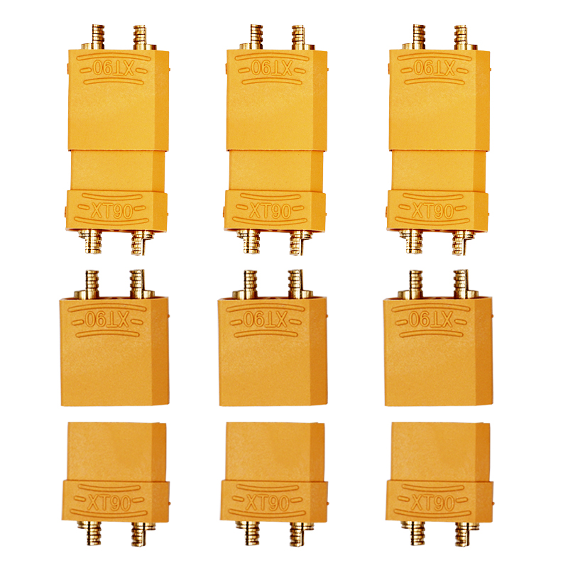 4 paris Connector Set gold plated banana plug 4.5mm Male Female XT90 Battery Suit For 90-120A current 20%Off