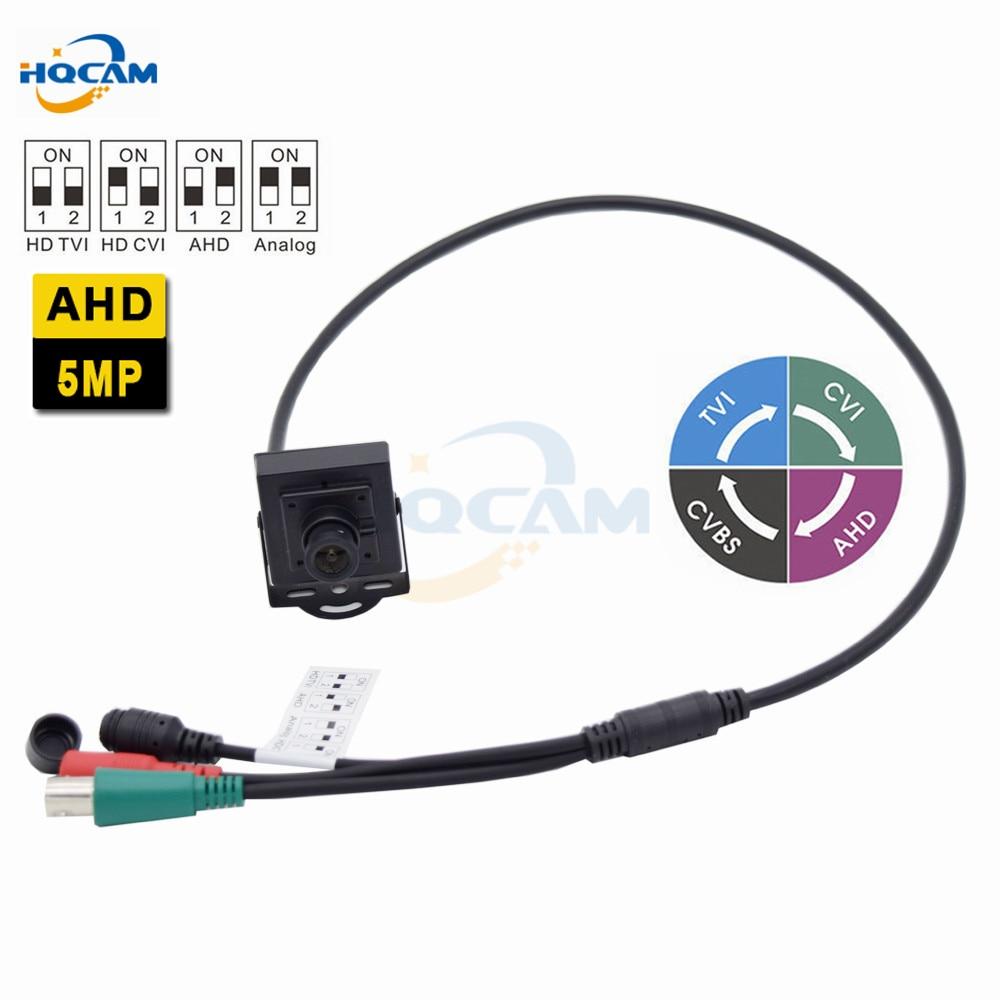 HQCAM Mini AHD Camera 5.0MP Camera Indoor Security CCTV Camera DIP switch 4 IN 1 AHD5MP/4MP,TVI5MP/4MP,CVI4MP,CVBS for 3.6mm len tlp627 1 dip 4 p627