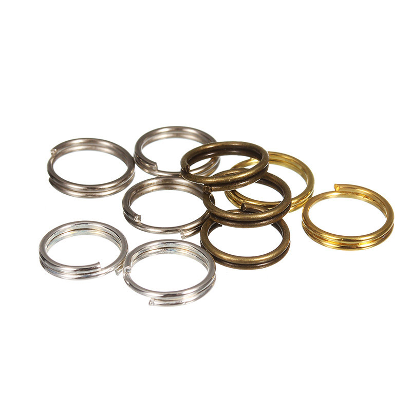St.kunkka 200pcs/lot 4 6 8 10 12 mm Open Jump Rings Double Loops Gold Silver Color Split Rings Connectors For Jewelry Making DIY