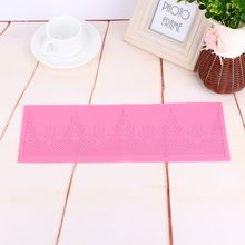 Hot Sale Silicone Fondant Mat Cake Decorating Styling Tools Kitchen Flower Pattern Silicone Lace Molds(China)
