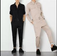 HOT Men S Korean Spring And Summer Long Sleeved Overalls Hairstylist Nightclub DJ Slim Trousers Tooling