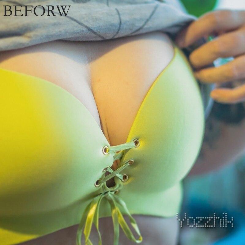 beforw новый 2016 тянуть б женщины большой размер сексуальный бюстгальтер бесшовные бюстгальтер собрать регулируемый белье не диски супер росту размер бюстгальтера 32-40