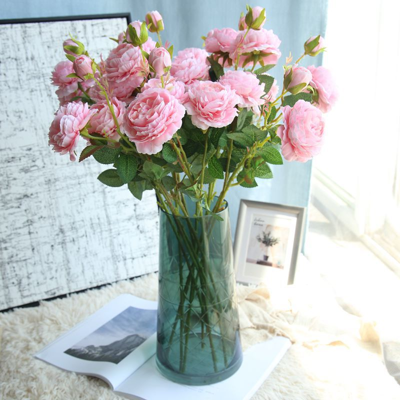 Western Rose Core 3 Heads Peony Artificial Flower Manufacturers Home