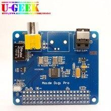 On sale UGEEK AOIDE HIFI DiGi Pro Digital Sound Card for Raspberry pi 3 Model B|Two oscillators|I2S SPDIF Optical Fiber|44.1&48kHz|2B 3B