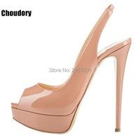 Women S High Heels Peep Toe Slingback Sandals Sexy Leopard Print Pumps Shoes Platform Thin High