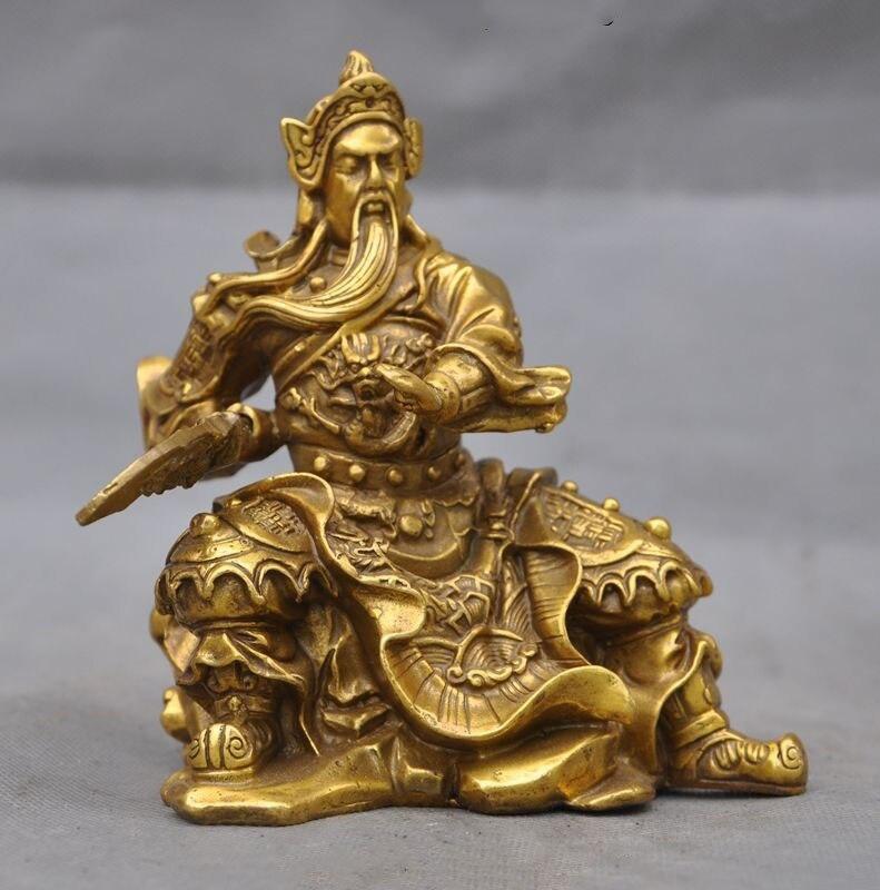 christmas Chinese Brass Dragon Broadsword Generals guan gong guan yu warrior God Statue halloween