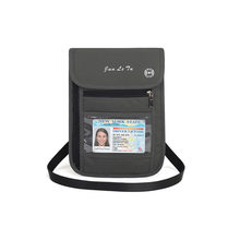 RFID Blocking Travel Multifunction Neck Pouch Passport Holder Travel Wallet Waterproof ID Card Holder for Men & Women(China)