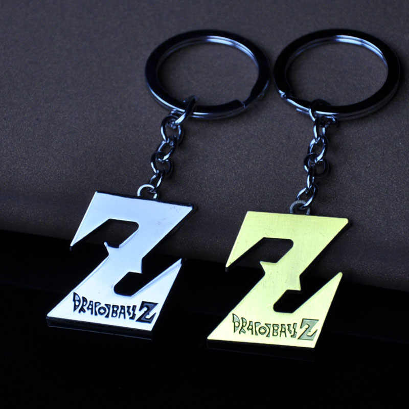 Anime Dragon Ball Z Logo Móc Khóa Hợp Kim Kẽm Dragonball Hình Mặt Dây Chuyền Chìa Khóa Xe Móc Khóa Nữ & Nam Chìa Khóa giá Đỡ Thiền Trượng Tặng