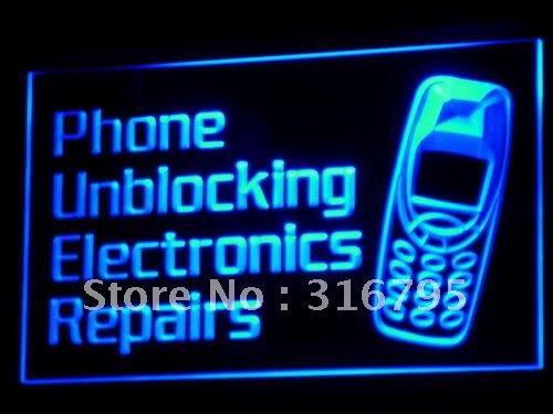 i160 Phone Unblocking Electronics Repairs Light Sign On/Off Switch 20+ Colors 5 Sizes ...