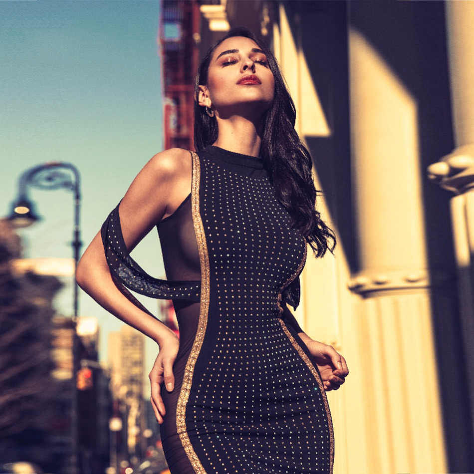 9611719f71cad Seamyla New Summer 2019 Celebrity Party Dress Women Black Sleeveless  Beading Runway Sexy Clubwear Elegant Maxi Dress Vestidos