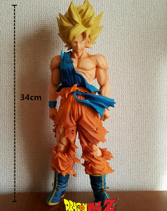 ФОТО Hot Sale Banpresto Dragon Ball Z Suer Saiyan Son Goku Gokou IMSP Huge 34CM Action Figure